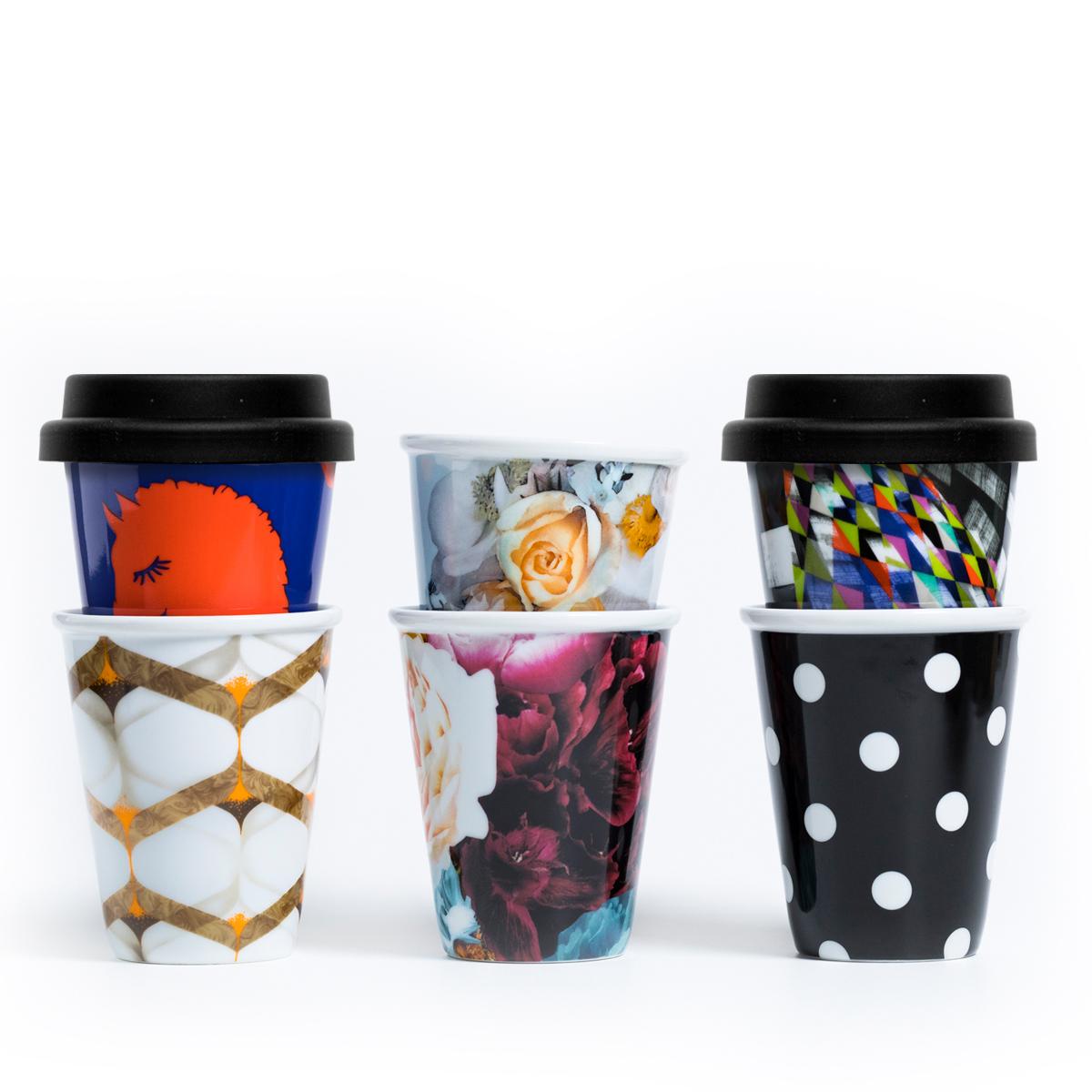 Fashion Series - 6 Reusable Latte Cups