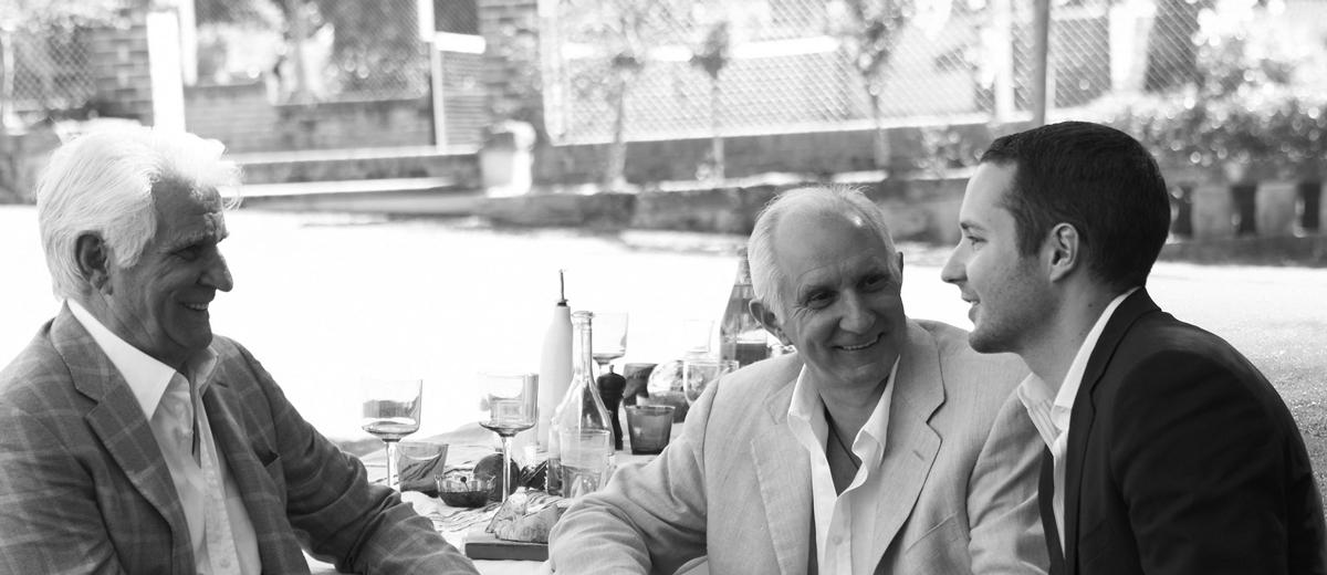 Vittoria Coffee's Les Shirato (CEO) with Rolando Shirato (MD) and another family member