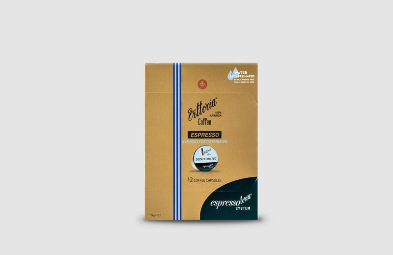 Vittoria Coffee Espresso Decaffeinated coffee capsules