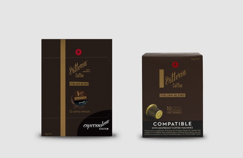 Vittoria Coffee Italian Blend coffee capsules