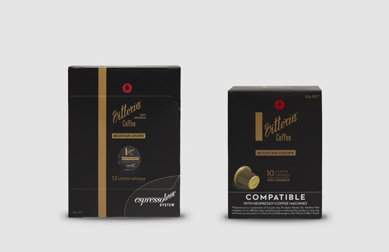 Vittoria Coffee Mountain Grown coffee capsules