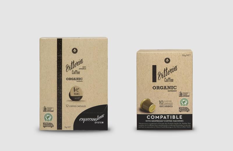Vittoria Coffee Organic coffee capsules