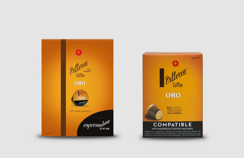 Vittoria Coffee Oro coffee capsules