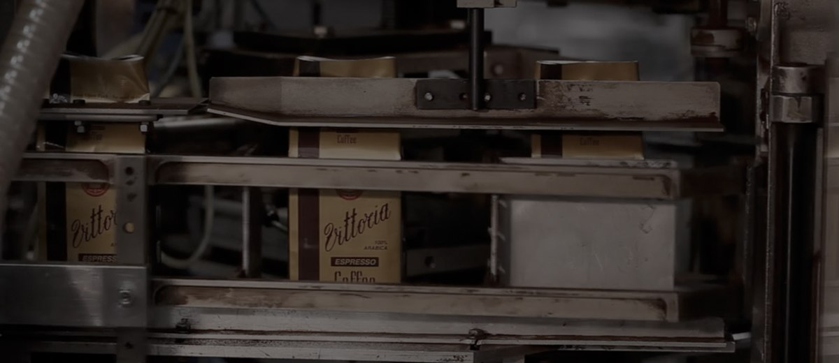 Vittoria Coffee being packed by machines