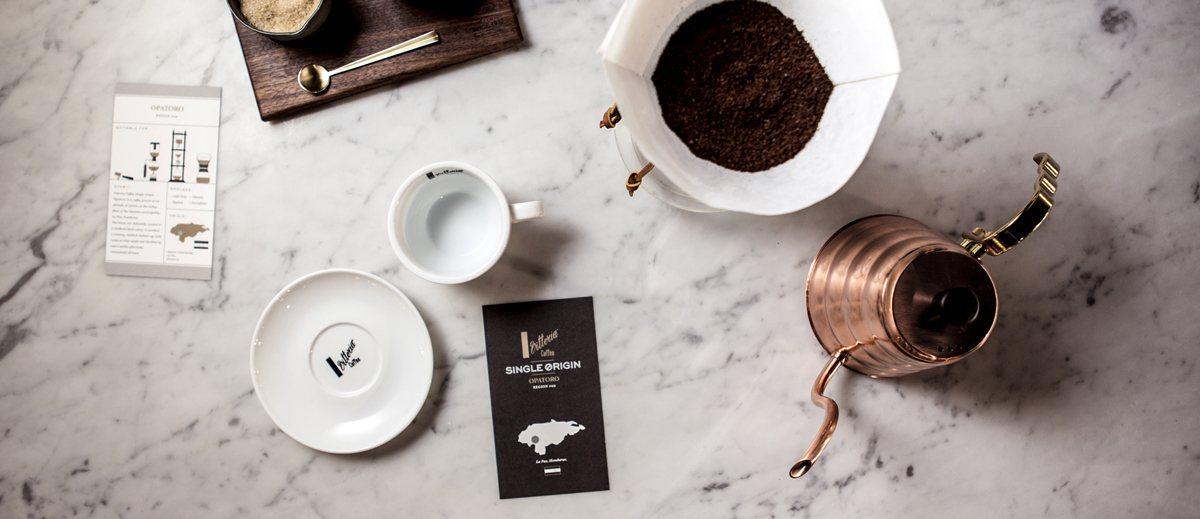 Drip style Vittoria Coffee served at L'Americano Espresso cafe