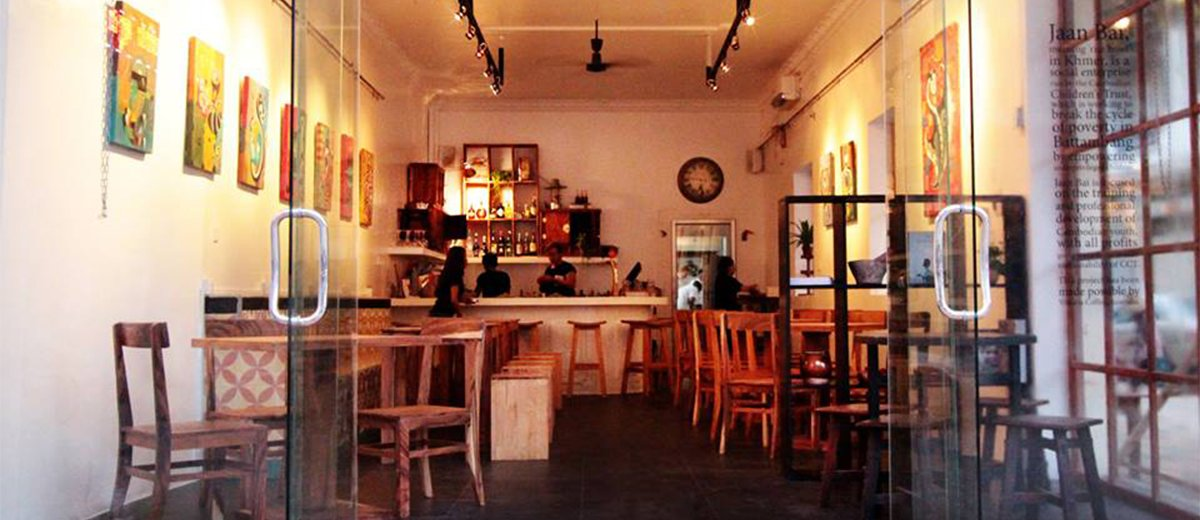 An empty cafe