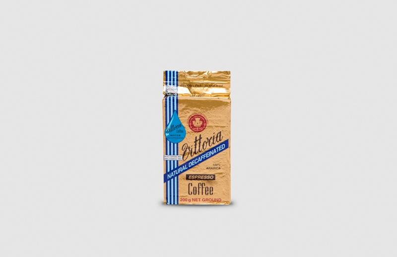 Vittoria Coffee Espresso Decaffeinated ground coffee beans