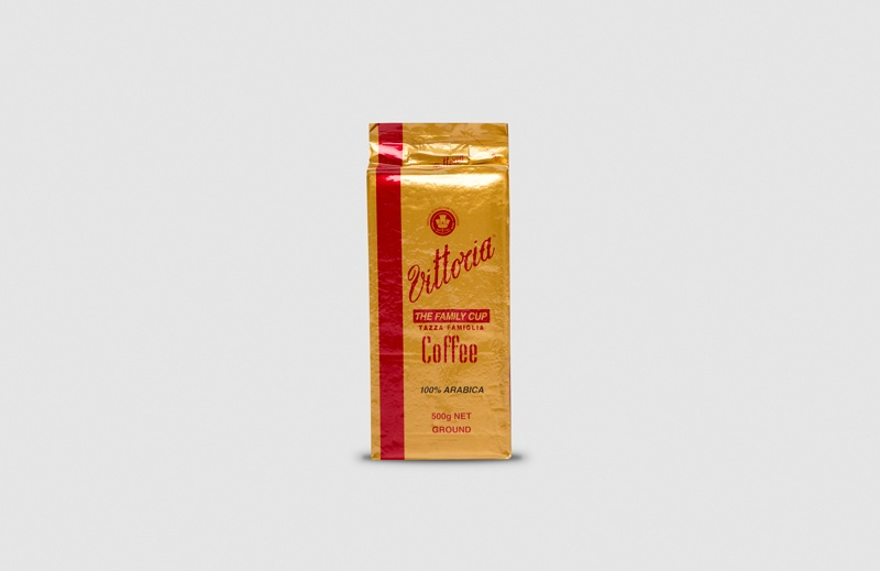 Vittoria Coffee Family Cup ground coffee beans
