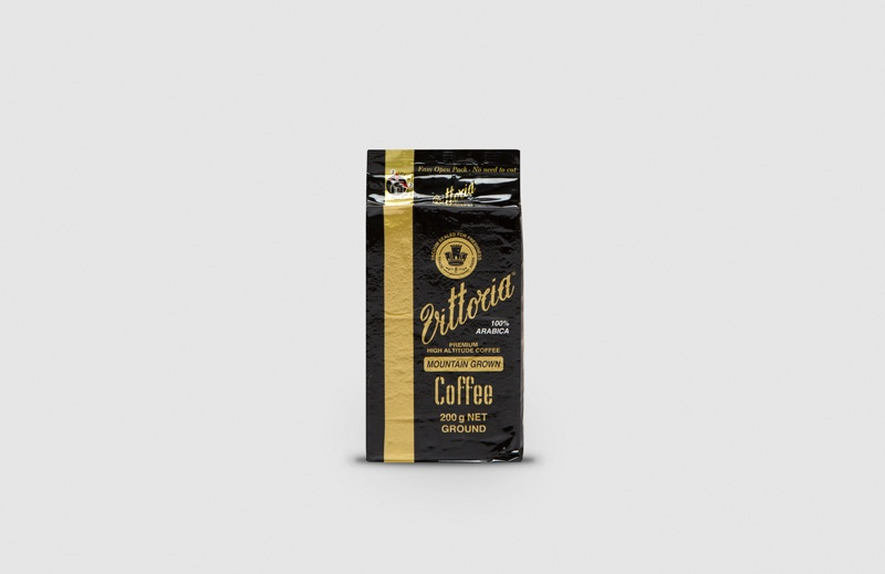 Vittoria Coffee Mountain Grown ground coffee beans