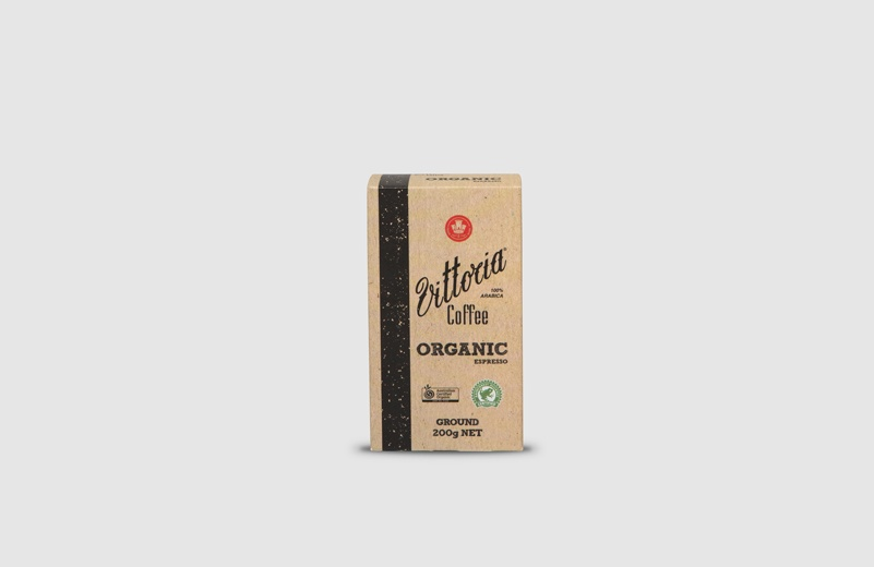 Vittoria Coffee Organic ground coffee beans