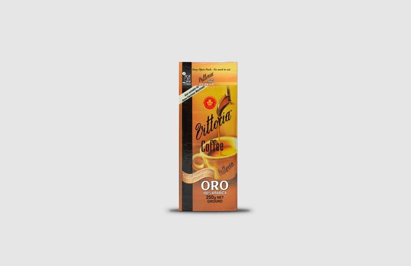 Vittoria Coffee Oro ground coffee beans