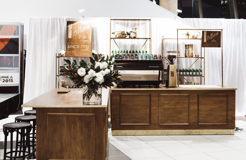 A Vittoria Coffee stall at a trade event