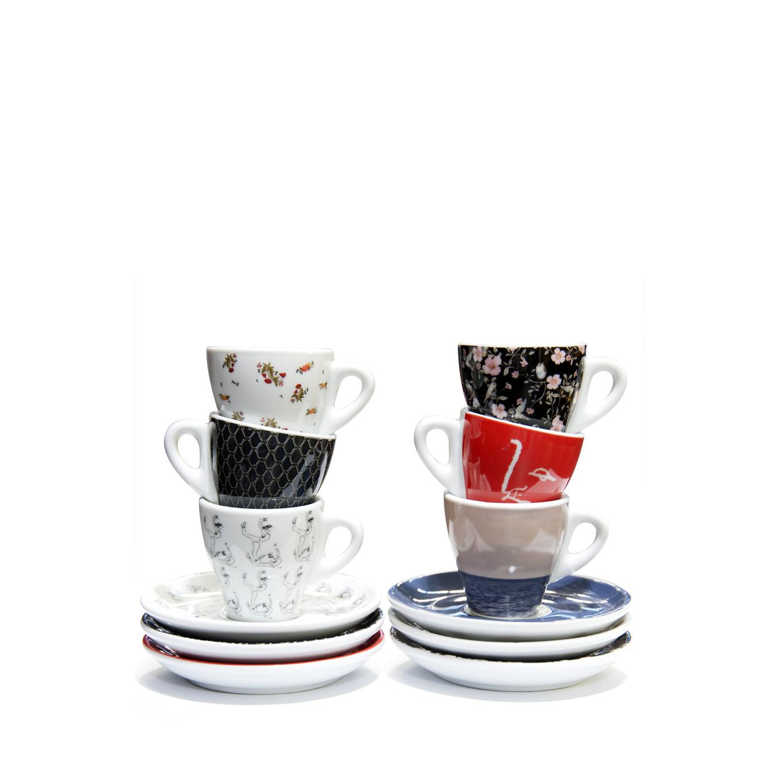 2019 Fashion Series Espresso Cup & Saucer Set of 6