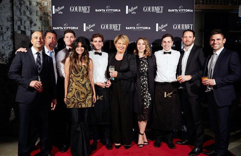 Senior Vittoria management team on the red carpet at the Gourmet Traveller awards