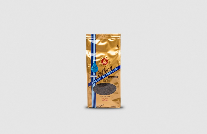 Vittoria Coffee Espresso Decaffeinated coffee beans