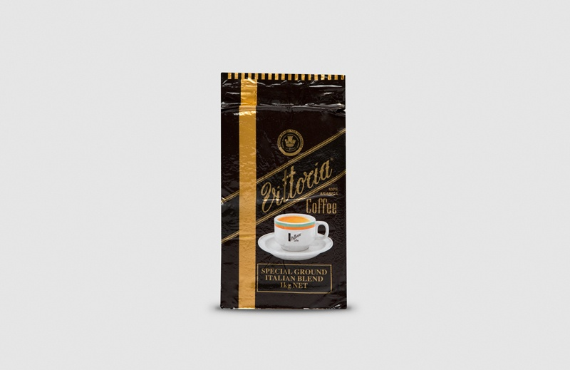 Vittoria Coffee Italian Blend ground coffee beans